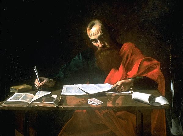 바울은 로마서 쓰는 중.jpg