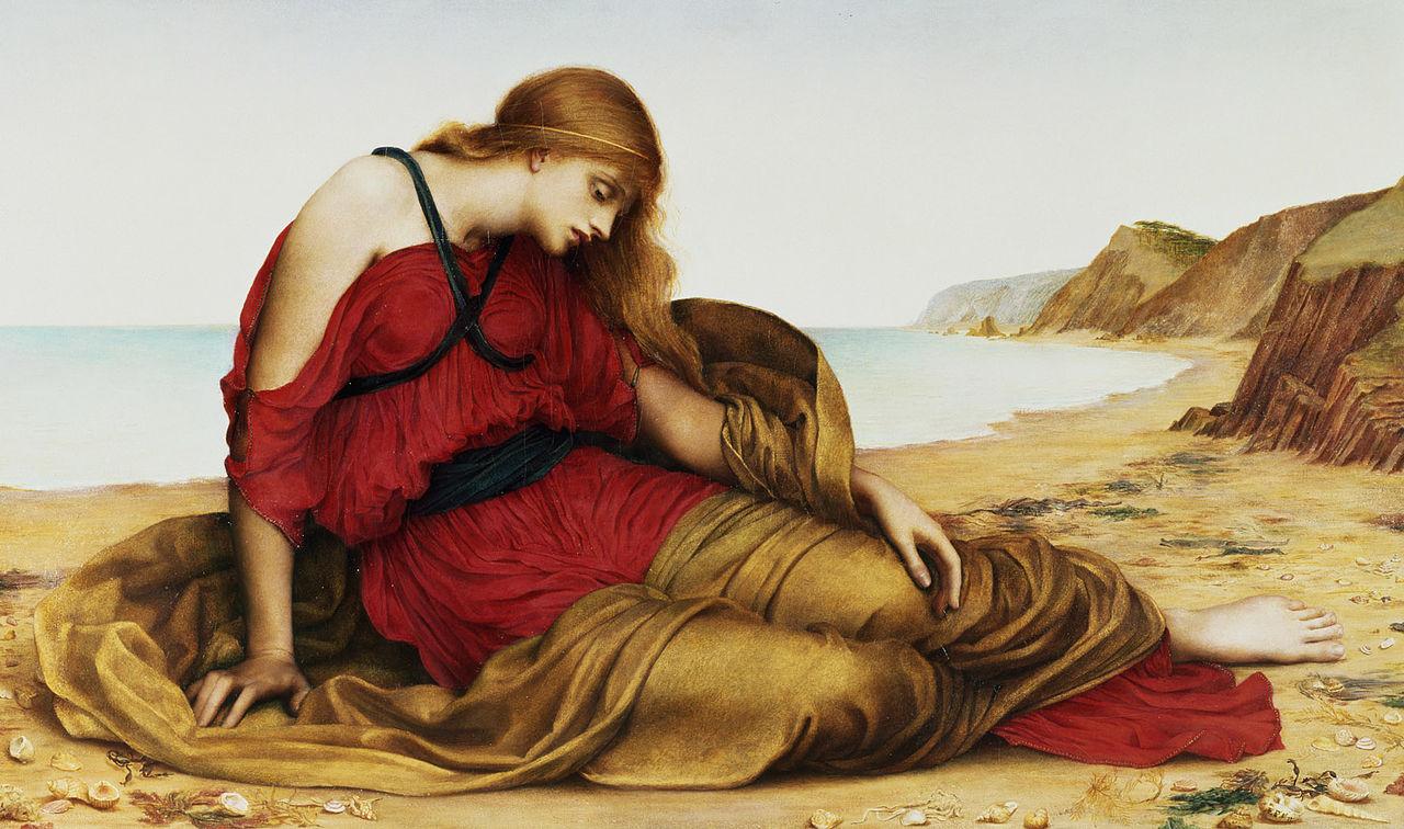 디오니소스_아리아드네의 탄식_1280px-Ariadne_in_Naxos,_by_Evelyn_De_Morgan,_1877.jpg